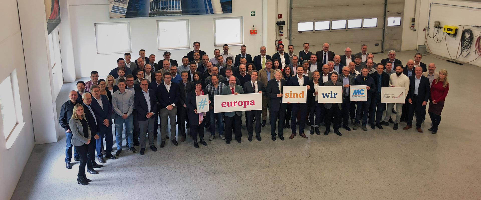 #europasindwir – MC-Bauchemie executives fly the flag for Europe